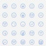 Emoji-Ikonensatz 25 Vektor-Ikonen verpacken stock abbildung