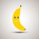 Emoji jaune de banane avec le regard triste Photos libres de droits