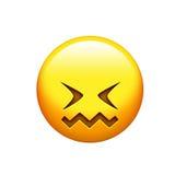 Emoji jaunissent le do, le visage bouleversé et l'icône fermante de yeux illustration de vecteur