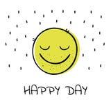 Emoji Lächeln Auch im corel abgehobenen Betrag vektor abbildung