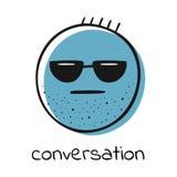 Emoji Lächeln Auch im corel abgehobenen Betrag lizenzfreie abbildung