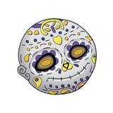 Emoji-Lächeln tot Dia De Los Muertos Tag der toten Vektorillustration lizenzfreie abbildung