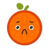Emoji - la sensación anaranjada triste le gusta llorar Vector aislado libre illustration