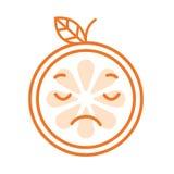 Emoji - la sensación anaranjada triste le gusta llorar Vector aislado stock de ilustración