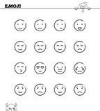 Emoji line set Stock Images