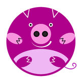 Emoji little pig Royalty Free Stock Images