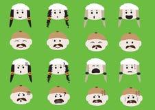 Emoji masculino e fêmea da cara Foto de Stock