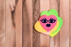 Emoji mignon de beauté de coeur photos stock