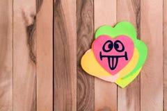 Emoji mignon de langue de coeur photographie stock