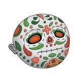 Emoji Neutral Dead. Dia de Los Muertos. Day of The Dead Vector Illustration Royalty Free Stock Image