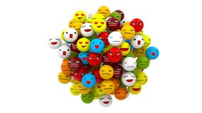 Emoji piłka royalty ilustracja