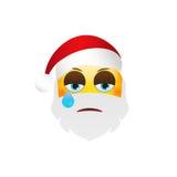 Emoji Santa Claus Emoticon dos feriados de inverno Caráter de grito Imagem de Stock Royalty Free