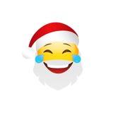 Emoji Santa Claus. Winter Holidays Emoticon. Smile Character Stock Images
