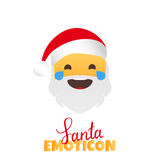 Emoji Santa Claus. Winter Holidays Emoticon. Smile Character Royalty Free Stock Photo
