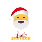 Emoji Santa Claus. Winter Holidays Emoticon. Smile Character Royalty Free Stock Photos