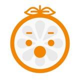 Emoji - scream orange smile. Isolated vector. Stock Images