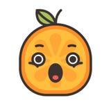 Emoji - scream orange smile. Isolated vector. Stock Image