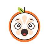 Emoji - scream orange smile. Isolated vector. Royalty Free Stock Photography