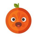 Emoji - scream orange smile. Isolated vector. Royalty Free Stock Photos