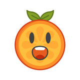 Emoji - scream orange smile. Isolated vector. Stock Photo
