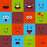 Emoji set icons Stock Photos