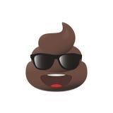 Emoji Shit Poo emoticon Πρόσωπο επίστεγων που απομονώνεται Διανυσματική απεικόνιση