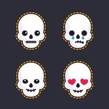 Emoji with skulls Royalty Free Stock Images