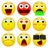 Emoji smile emoticon pack. Vector emotion illustration. Royalty Free Stock Photography