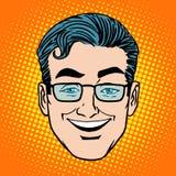 Emoji smile laughter man face icon symbol Stock Photos