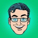 Emoji smile laughter man face icon symbol Royalty Free Stock Image