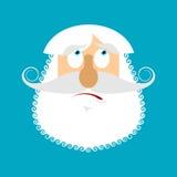 Emoji sorpreso uomo anziano anziano con il fronte grigio della barba stupito Fotografia Stock Libera da Diritti