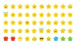 Emoji star set Stock Photos