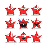 Emoji stars icons Royalty Free Stock Images