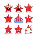 Emoji stars le icone Fotografie Stock Libere da Diritti