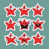 Emoji stars le icone Autoadesivi di Emoji Immagine Stock Libera da Diritti
