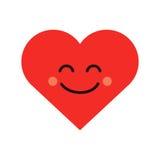 Emoji sveglio del cuore Icona sorridente del fronte royalty illustrazione gratis