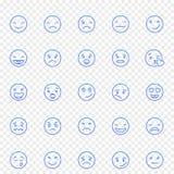 Emoji symbolsuppsättning 25 vektorsymboler packar arkivbild