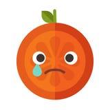 Emoji - tears crying orange. Isolated vector. Stock Photography
