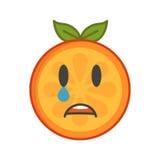 Emoji - tears crying orange. Isolated vector. Royalty Free Stock Photography