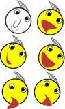 Emoji uppsättningillustration för apps arkivbild