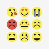 Emoji. Vector icons emoji. Expressionless emoji Royalty Free Stock Photos