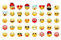 Emoji vector illustration. Emoticons isolated on white background. Emoticons Stock Images