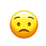 Emoji yellow sad, upset face with frown icon. The emoji yellow sad, upset face with frown icon vector illustration