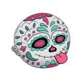 Emoji-Zunge Tag der Toten Dia De Los Muertos Halloween Auch im corel abgehobenen Betrag vektor abbildung