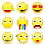 Emojireeks Emoticonreeks Royalty-vrije Stock Foto's