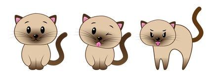 Emojis γατών στοκ εικόνα
