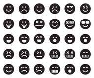 EMOJIS Black Icons Royalty Free Stock Image