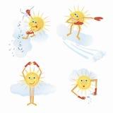 Emojis de Sun Fotos de archivo