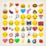 Emojis och emoticons Royaltyfri Foto