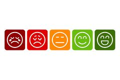 Emojis pour l'estimation Vecteur Eps10 illustration libre de droits